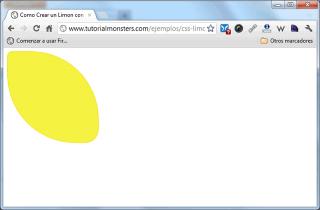 Limón con CSS - Chrome
