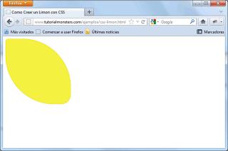 Limón con CSS - Firefox