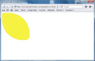 Limón con CSS - Safari