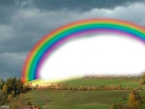 arco iris blanco