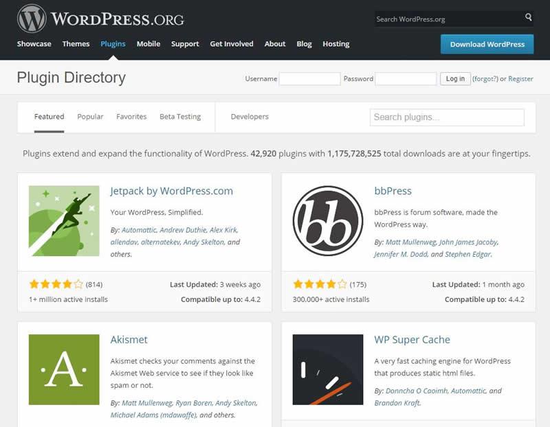 repositorio pluguns wordpress