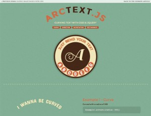 3 arctext js curving text with css3 and jquery