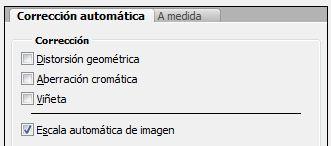 correccion automatica filtro correcion lente