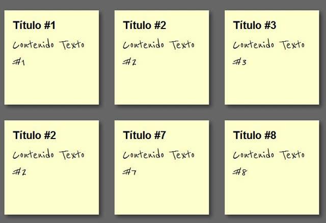 Paso 2: Notas Adhesivas CSS