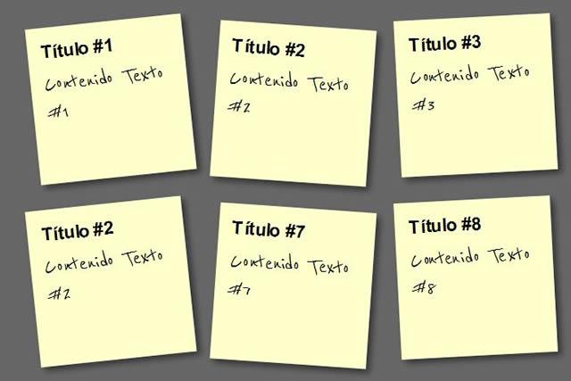 Paso 3: Notas Adhesivas CSS3