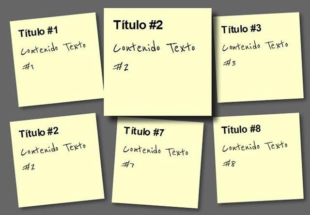 Paso 4: Notas Adhesivas CSS3