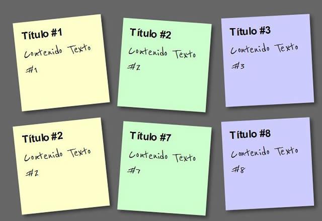 Paso 5: Notas Adhesivas CSS3