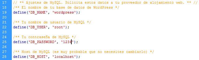 Configurando WP
