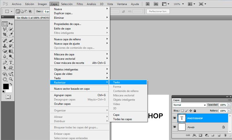 Cómo rasterizar una capa en PhotoShop | Techlandia