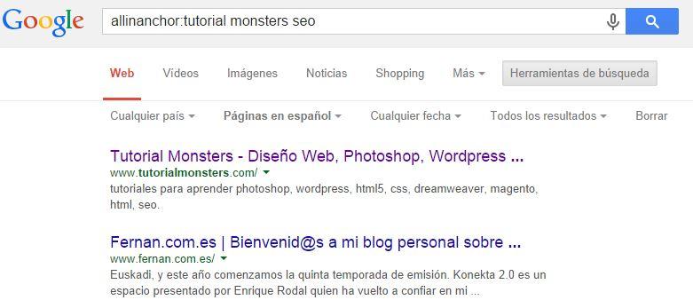 allinanchor:tutorial monsters seo