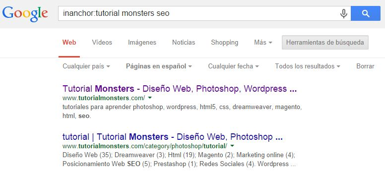 inanchor:tutorial monsters seo