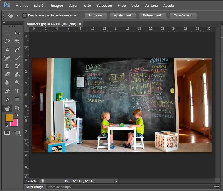 vista encajado en pantalla photoshop