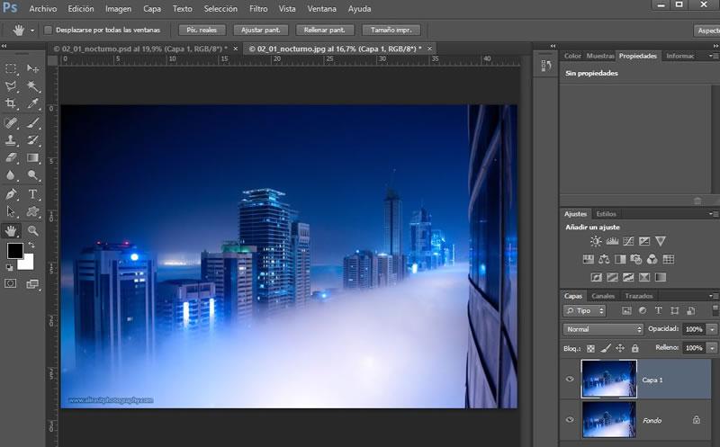 Curso de Photoshop: 1. Abrimos la imagen y duplicamos la capa con Ctrl + J