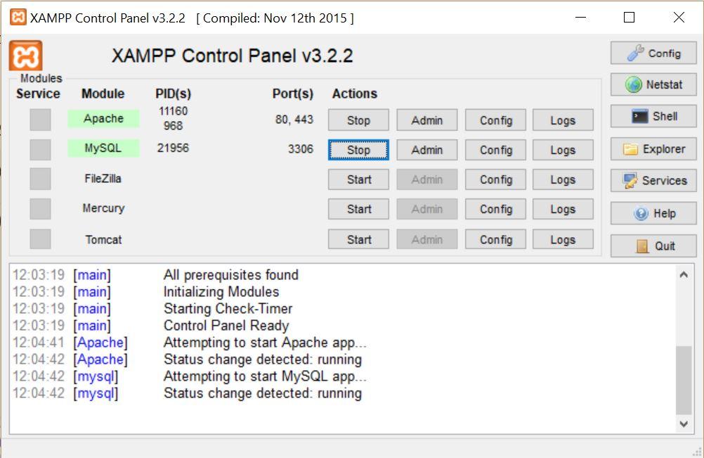 panel-control-xampp-arrancado