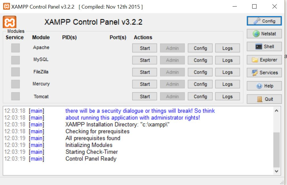 panel-control-xampp