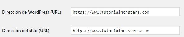 ajustes https WordPress