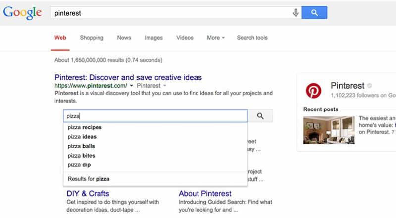 Cuadro de búsqueda de enlaces de sitios