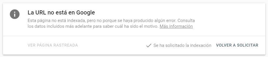 URL en cola para indexar por Google