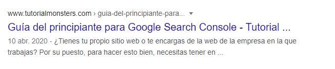 jemplo pagina indexada por google