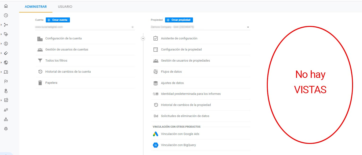 VISTAS EN G4 Google Analytics 4