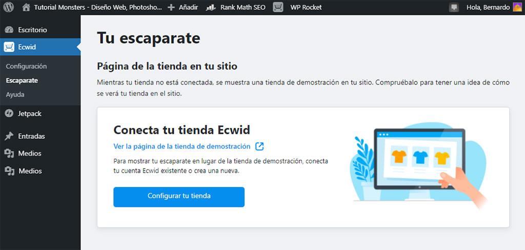 Ecwid escaparate